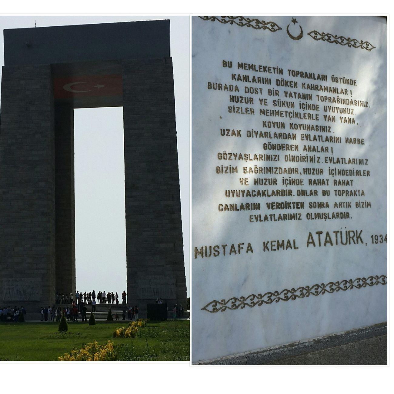 Çanakkale Şehitlik Anıtı'nın boyu 41 metre 70 cm.dir. 40 metre Atatürk'ün temennisini dile getirdiği anıt yüksekliği. Kalan 1,70 ise Büyük önderimiz Atatürk'müzün boyudur. 1934 yılında söylediği bu sözler ise onun gerçek anlamda evrensel bir lider olduğunun kanıtlarından sadece bir tanesi... ... Çanakkale Abidesi Hello World çanakkaledenizzaferimiz100yaşında Travel Historic City Landscape_Collection Travel Photography Ineedamiracleformylostsoul Eye4photography