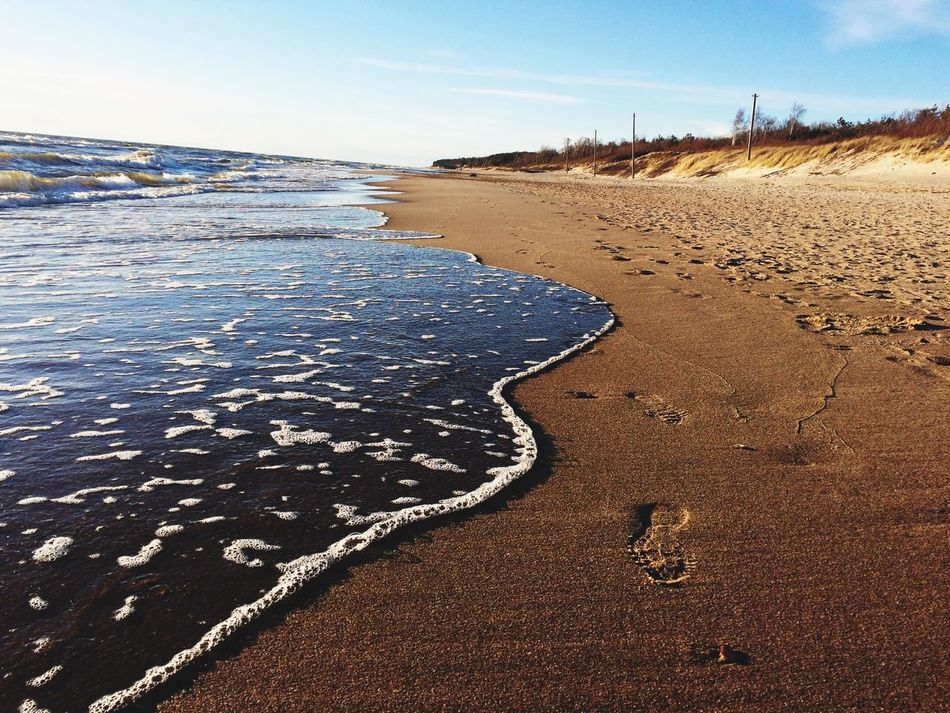 Sand Beach Sea Shore Nature Water Beauty In Nature Scenics Run No People Day Landscape Outdoors