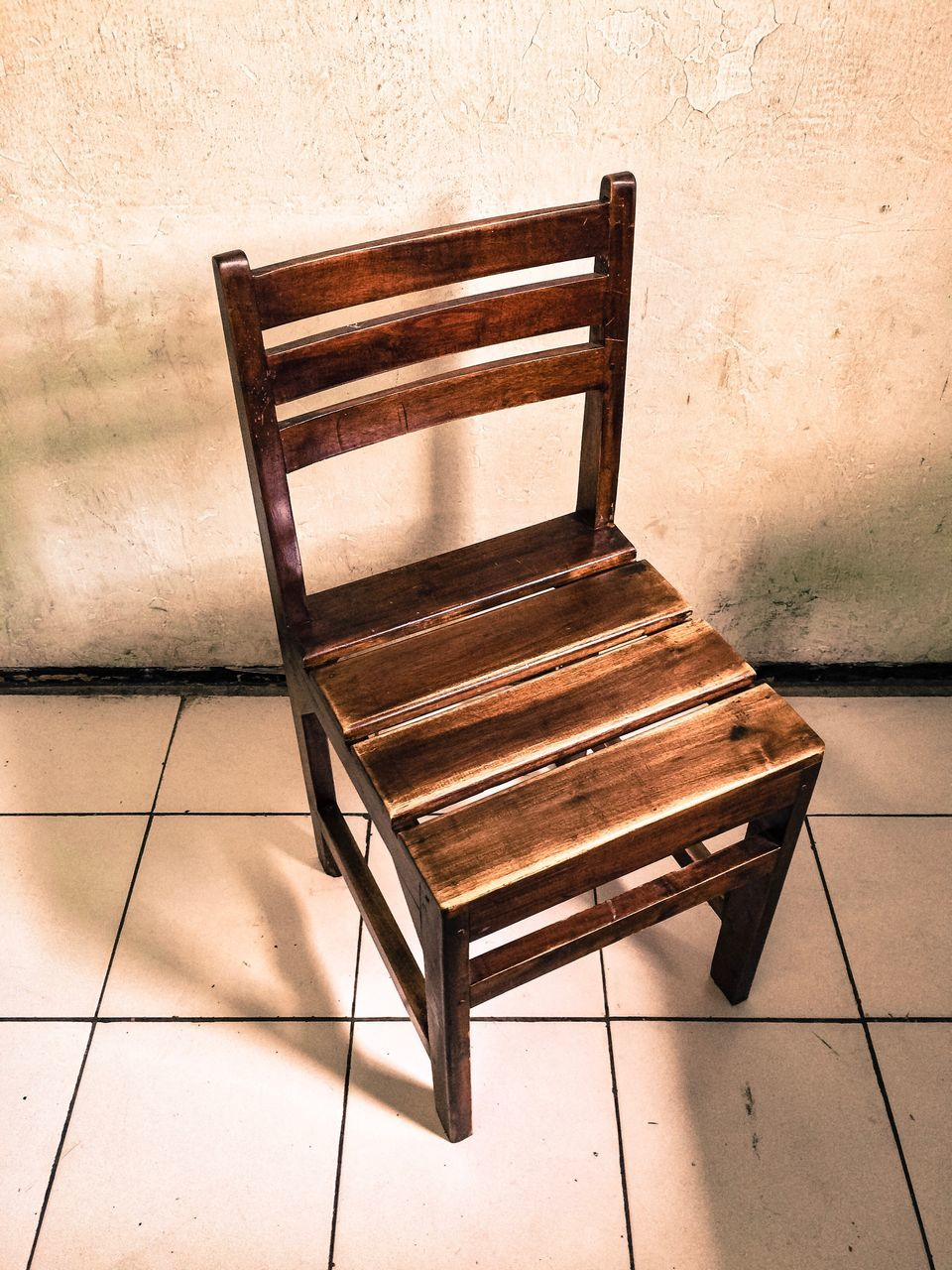 chair, no people, wood - material, table, abandoned, indoors, day, architecture, close-up
