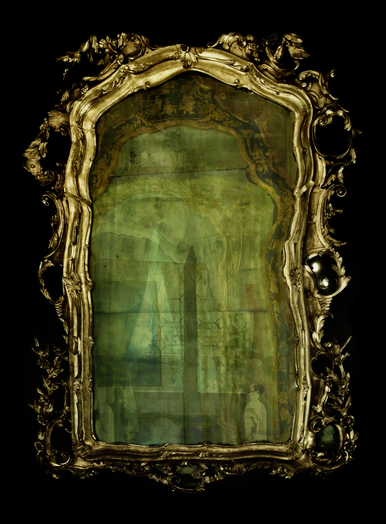 mirror mirror Baroque Baroque Style Black Background Close-up Cut And Paste Digital Art Experimental Experimental Photography Gold Colored Gothic Indoors  Mirror Mirror Picture No People Rococo Studio Shot