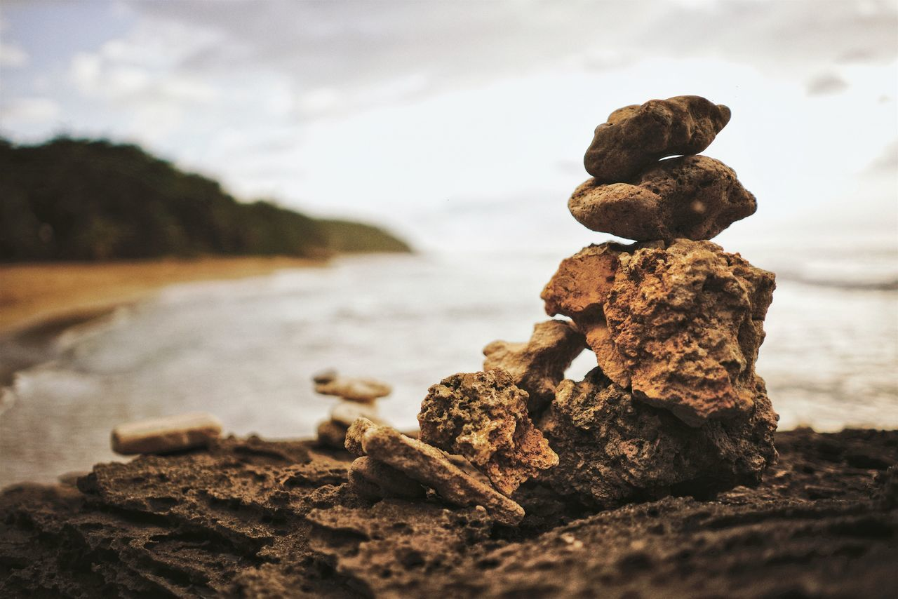 Rock - Object Outdoors Day No People Focus On Foreground Sky Close-up Nature Water Puerto Rico Sand Tranquility Beach Scenics Rock Formation