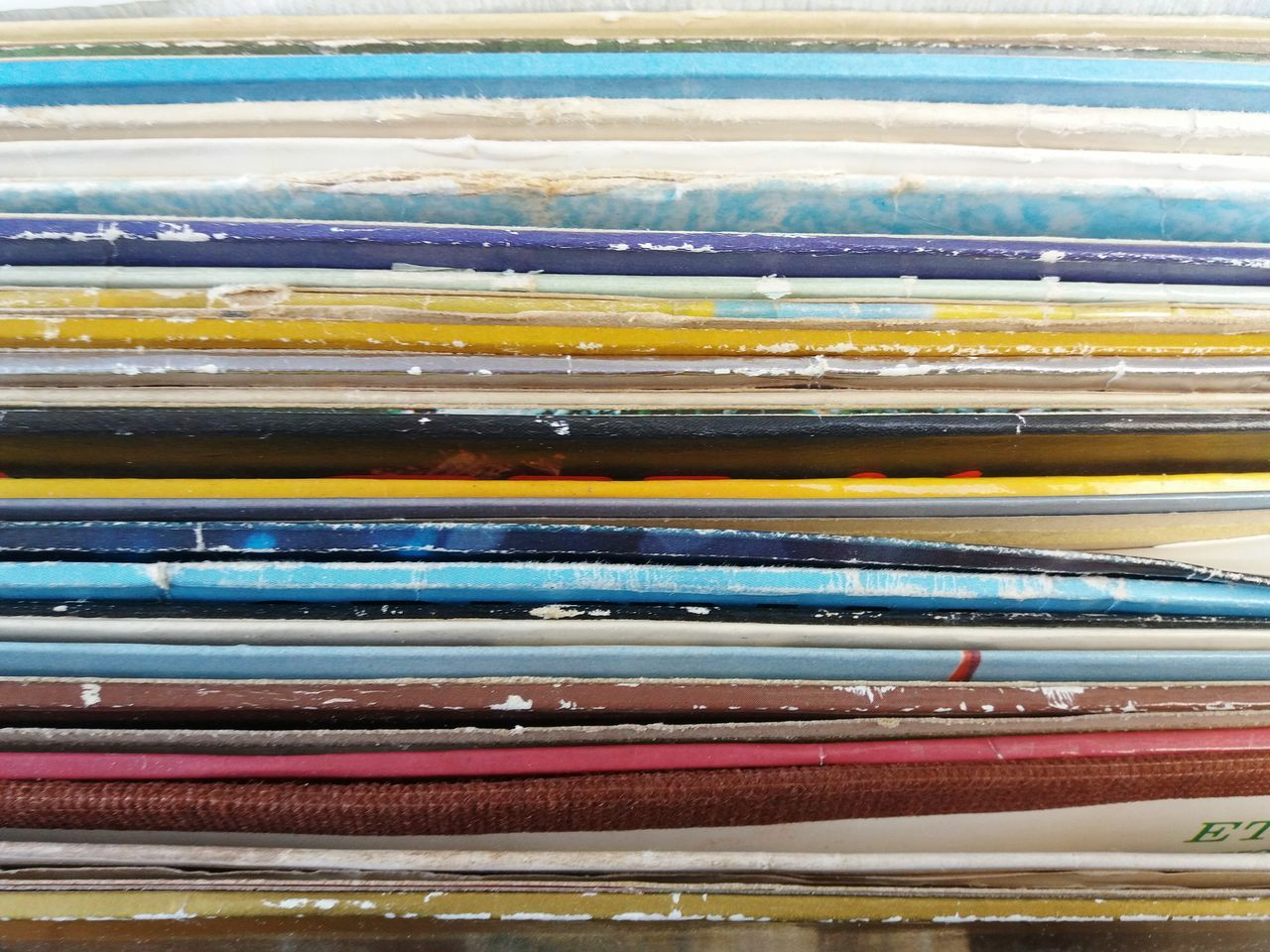 A row of the back of record covers No People Backgrounds Multi Colored Close-up Day Indoors  Records Record Record Collection Record Shop Recordlover Recordstore Music Music Brings Us Together Music Is My Life Music Photography  TakeoverMusic