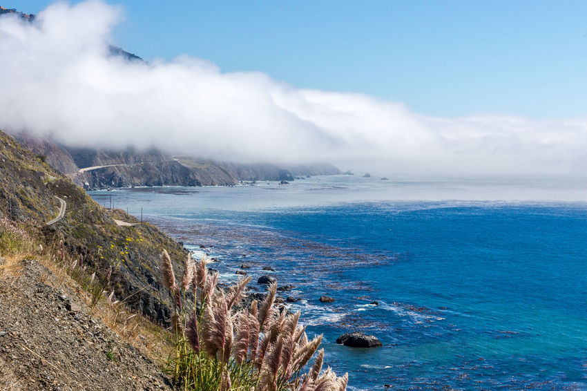 Beach Beauty In Nature Big Sur Blue Cloud Cloud - Sky Cloudy Coastline Day Horizon Over Water Idyllic Landscapes With WhiteWall Mountain Nature Outdoors Scenics Sea Shore Sky Tranquil Scene Tranquility Water
