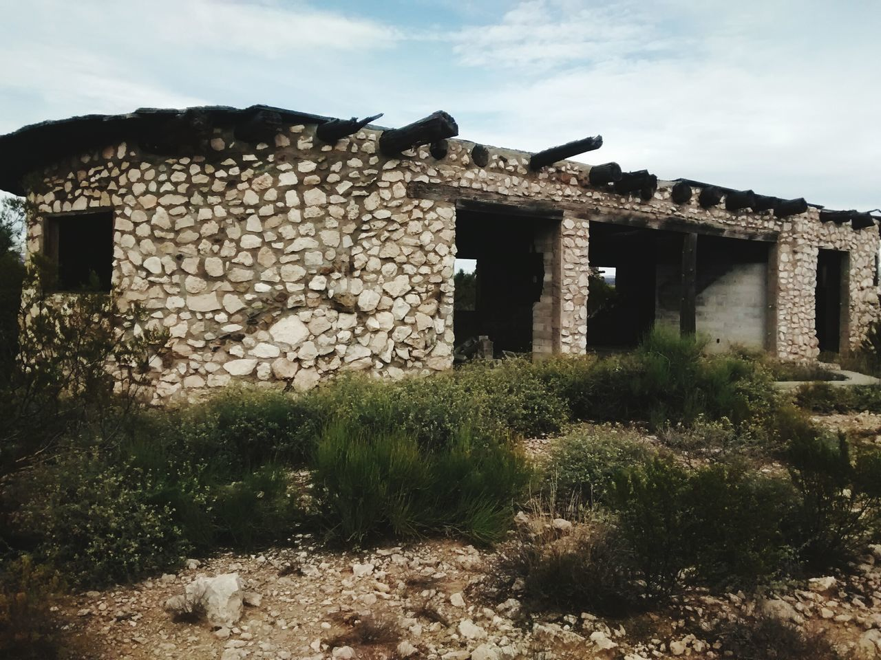 Built Structure Building Exterior Architecture House Grass Old Abandoned Damaged Old Ruin Cloud - Sky Sky Deterioration Ruined Outdoors Plant Stone Material Obsolete History Day The Past
