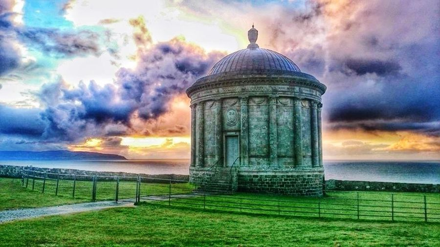 Mussenden Temple, Downhill, County Londonderry, Northern Ireland, United Kingdom. Captured this one between the heavy rain showers.