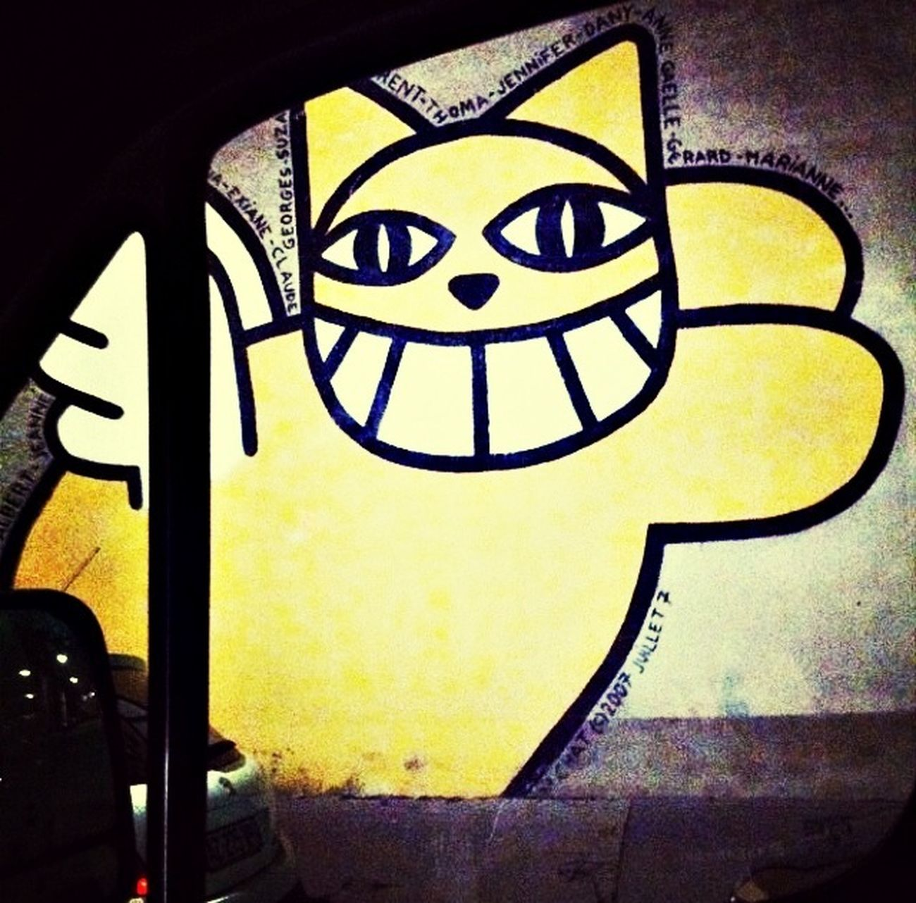 Monsieur Chat Graffiti Orléans The Yellow Cat