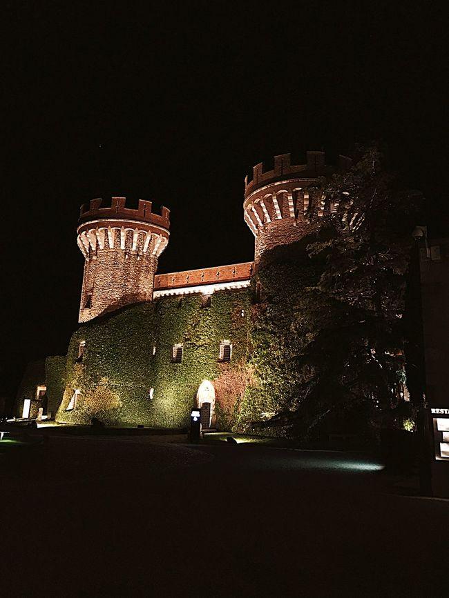 Peralada castle Night Architecture Illuminated Travel Fort