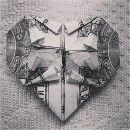Origami Heart Love Candothis Hobby Bored 1dollarbill