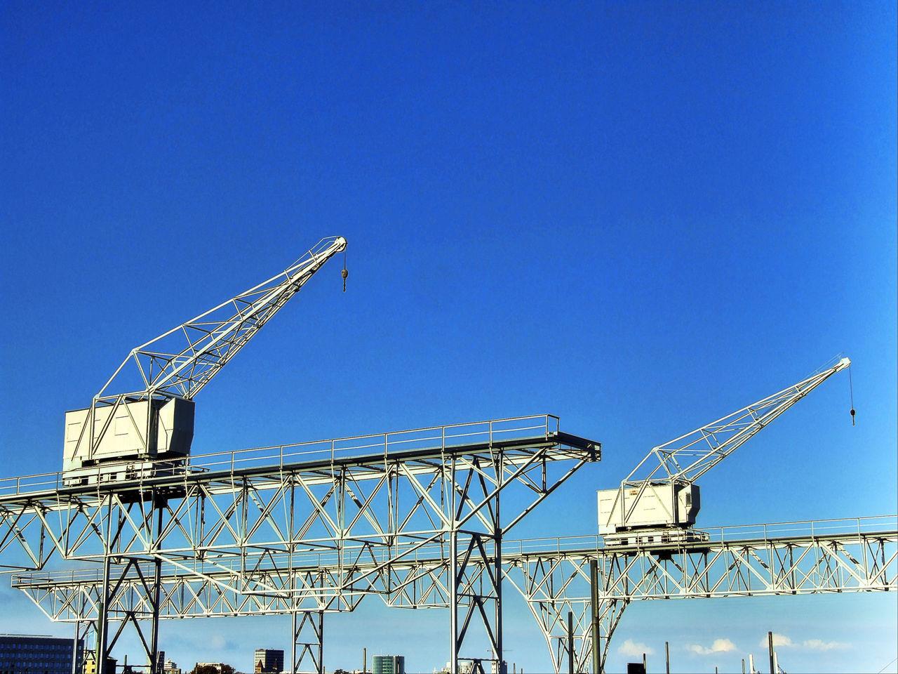 prot crane Blue Clear Sky Crane Cranes Day Harbour Harbour Cranes Harbour View Hoist Industrial Area Industrial Landscapes No People Outdoors Port Port Crane Port Cranes Sky
