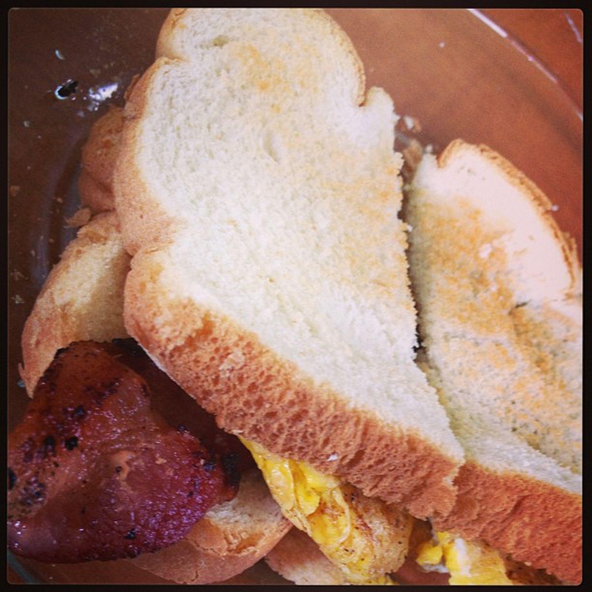 Baconeggsandwhich Selfmade Breakfast Toasted tastesamazing ill