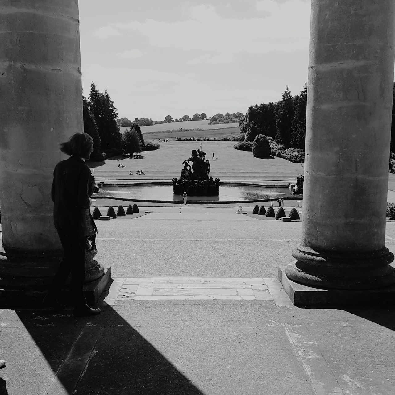 Witley Court Black And White England Pillars Shadows