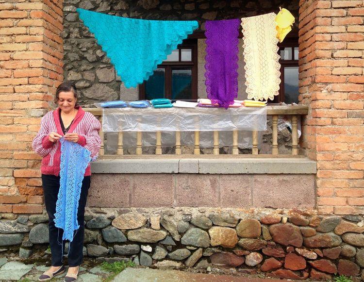 Stricken Knitting Decoration Dilijan Olddilijan Handicraft Streetseller Armenia