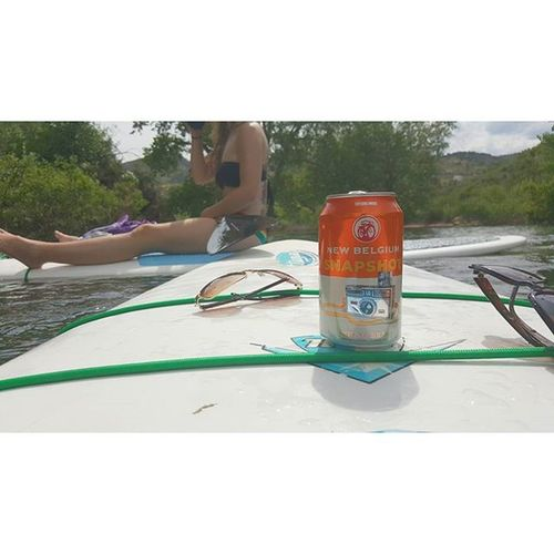 Just a snapshot of a snapshot while paddle boarding our worries away Horsetooth Horsetoothreservoir Newbelgium Beer Sun Colorado