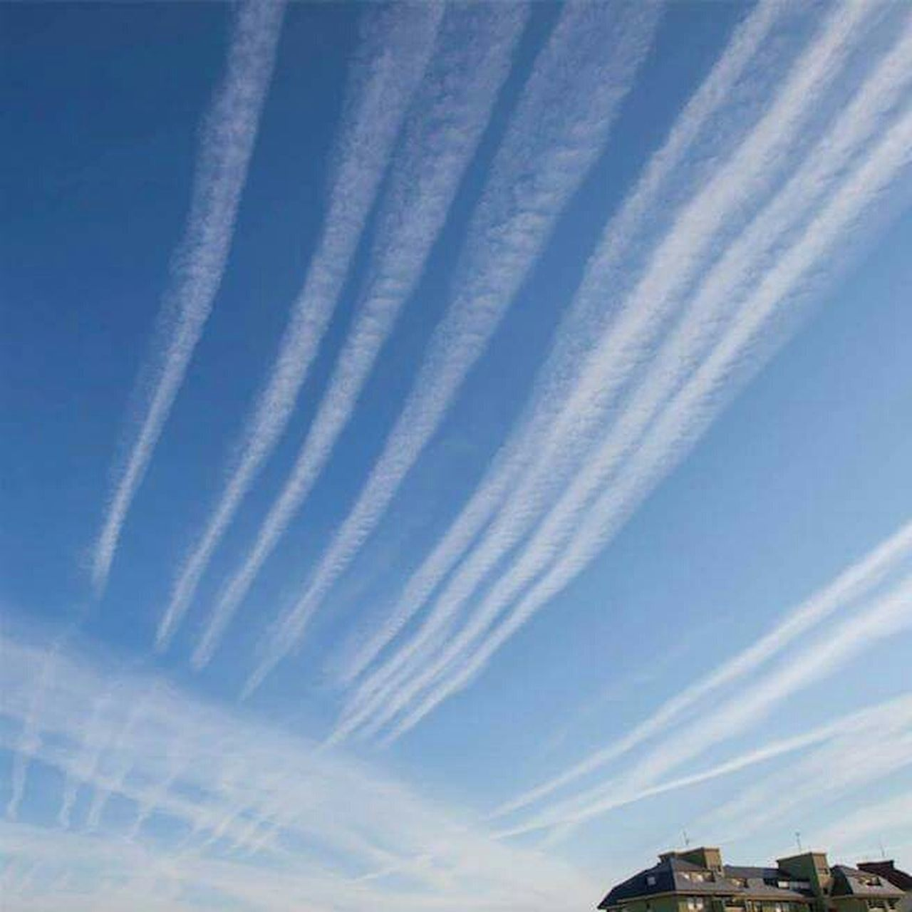 Chemical Sky GeoEngineering Aerosol No Filters Or Effects Whatthefuckaretheyspraying Chemtrails Grid Pattern taking the piss now