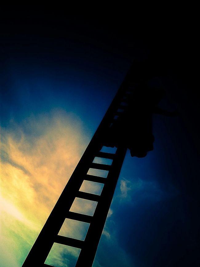 Quiero subir al cielo, en mi planta de chicharos magicos. Chicharos Marcianos Escalera Es De Dia Ya Es De Noche Tambien Puerto Vallarta