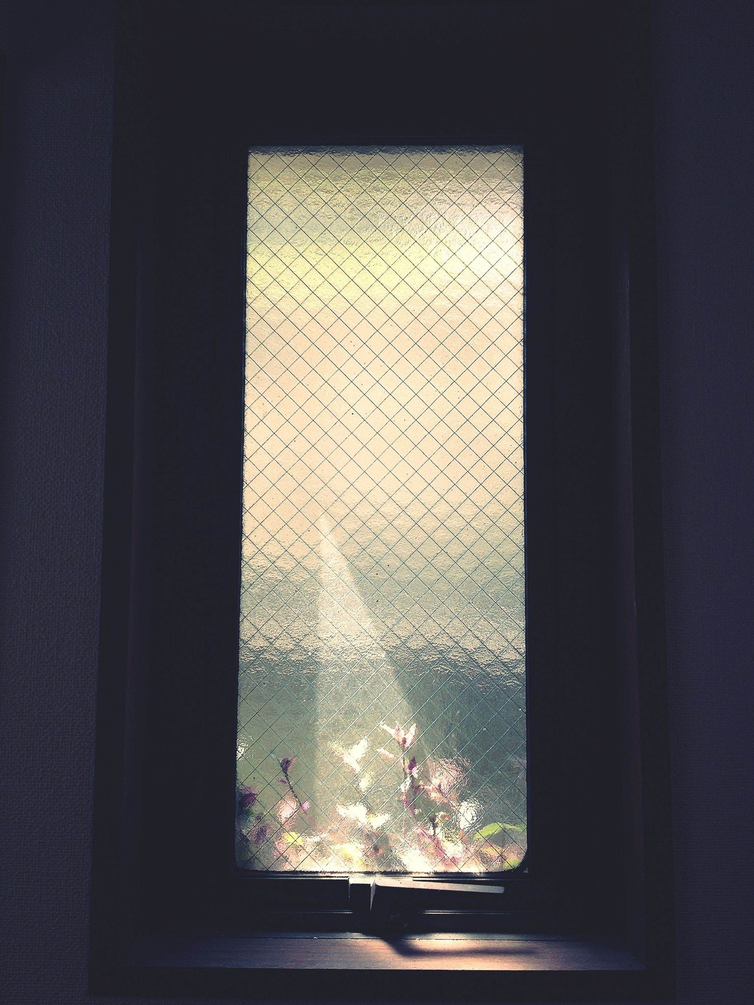 indoors, window, glass - material, transparent, curtain, glass, home interior, close-up, looking through window, dark, water, no people, window sill, reflection, day, sky, window frame, house, drop, sunlight