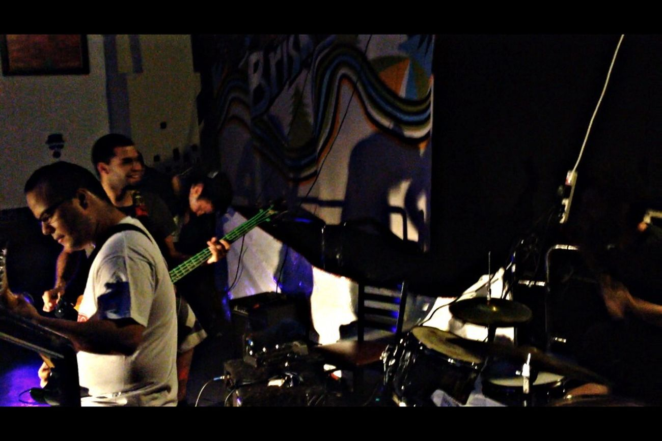 What Does Music Look Like To You? These guys call themselves Bicicleta, a local band from Puerto Rico. Hardcore/Punk is what they do best! This is a shot of them performing live :) Music Hardcore Punk Straight Edge