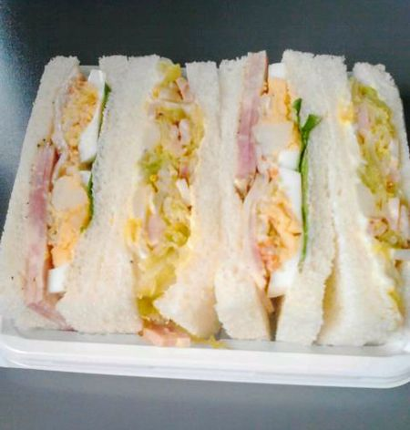 Food And Drink Food Indoors  No People Close-up Freshness Studio Shot Tray Ready-to-eat Day 🇯🇵 Japan Freshness Japanese Food Japanesefood Sandwiches Sandwich Time Sandwich Sandwichphoto Sandwichday Japan Lovers Japan Photography