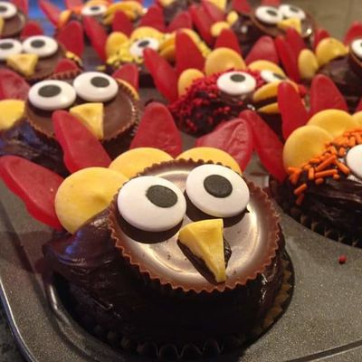 Cakes Thanksgiving Turkey Cake Celebration Close-up Creative Food Cupcake Cute Day Dessert Food Food And Drink Freshness Indoors  Indulgence No People Plate Ready-to-eat Sweet Food Temptation Unhealthy Eating
