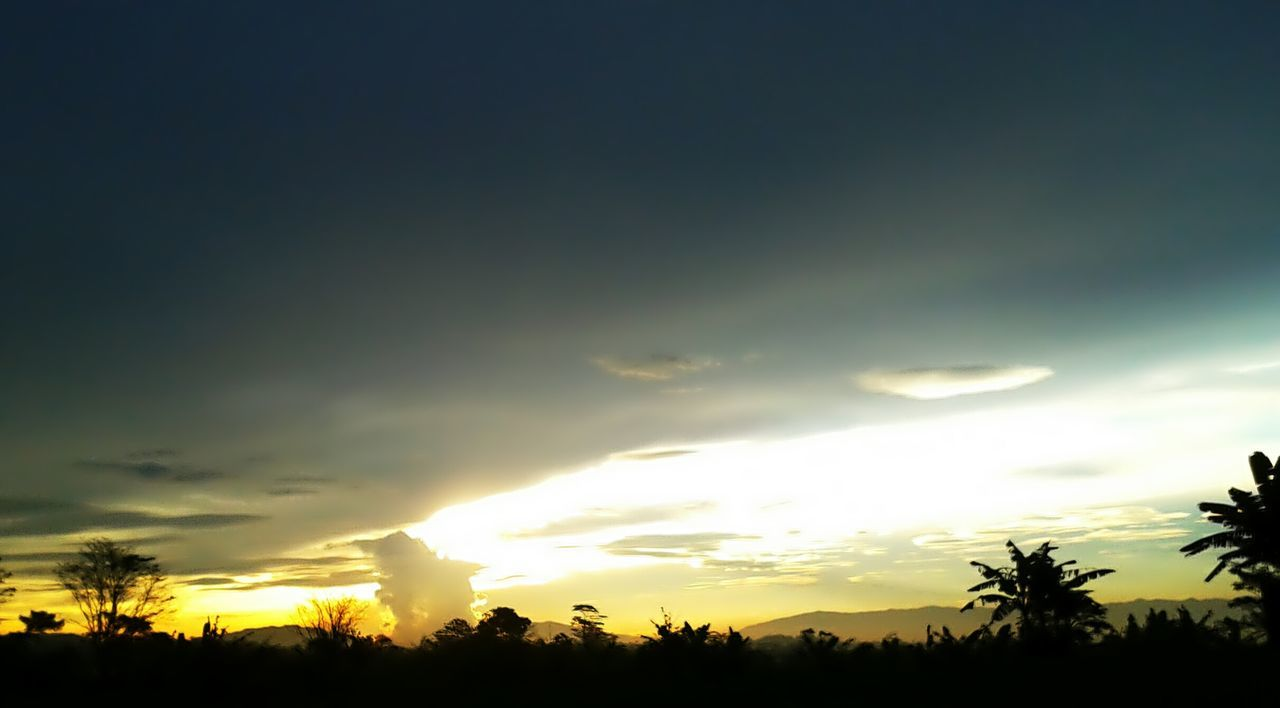 thanks God for this moment Sunset Light Up Your Life Silhouette Landscape