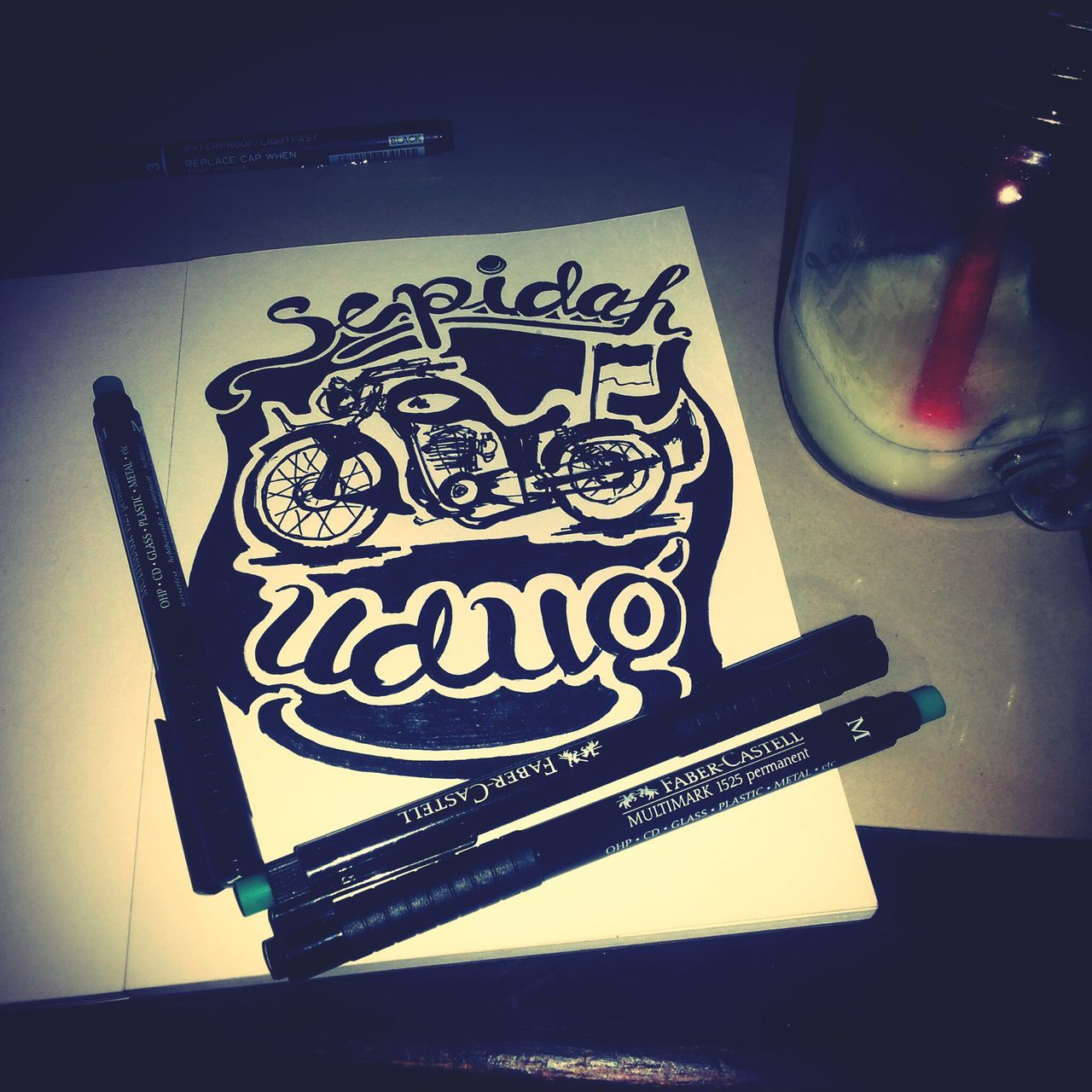 my hand lettering... sepidah udug is osing language in english is motorcycle First Eyeem Photo