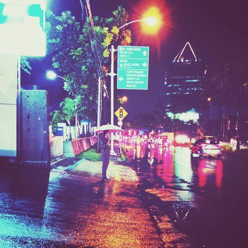 Rainy Ligths Clours Bintaro #nigth