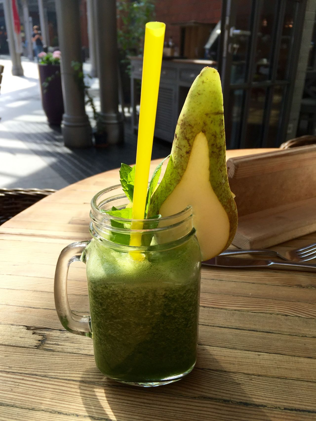 Freshness Green Color Greencoctail Parsley Pear Refreshment Shake Spinach Superfood
