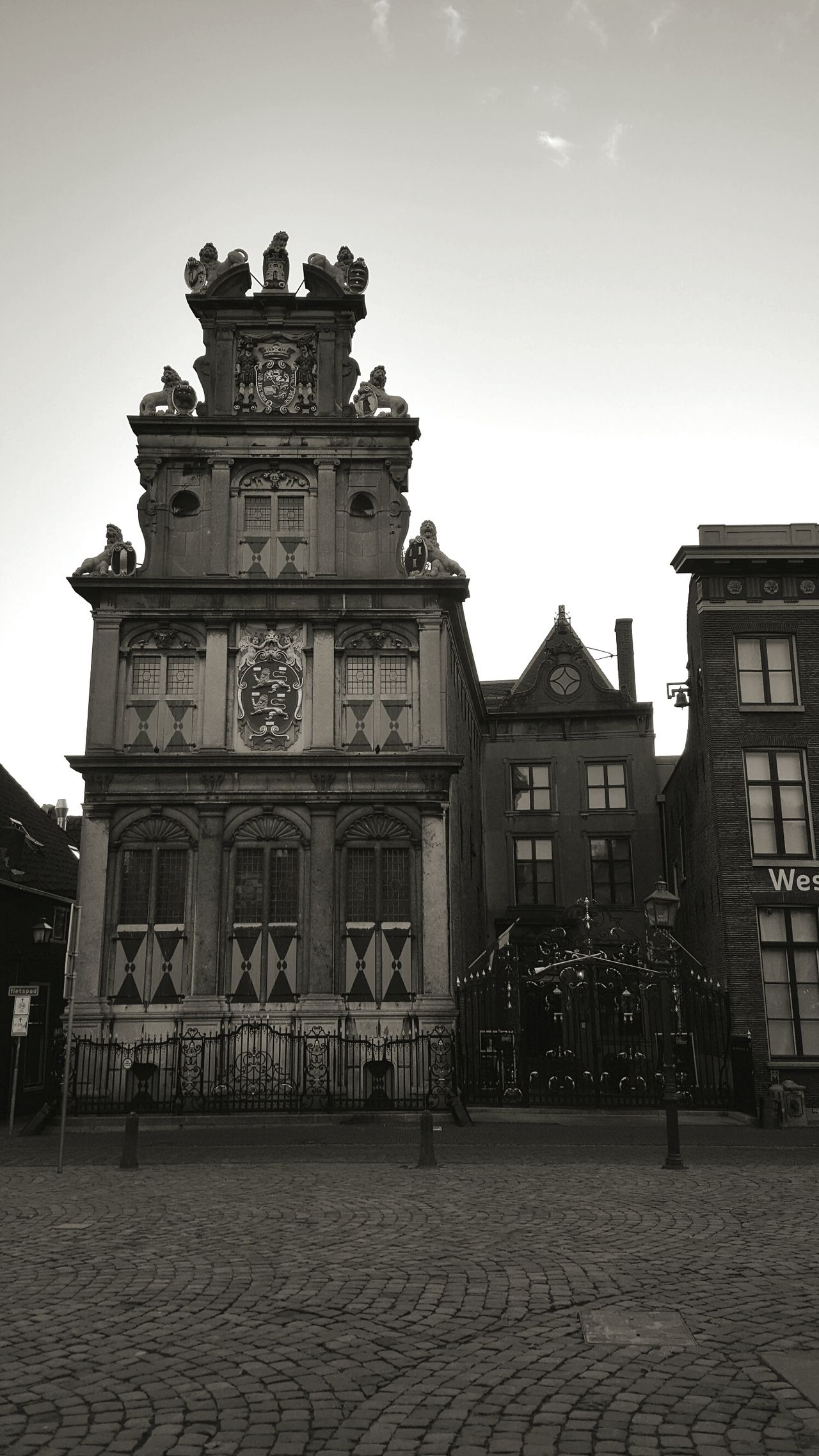 Travel City Architecture Travel Destinations Cultures History Cityscape Outdoors Blackandwhite Black And White Exploring New Ground Exploring Hoorn, Netherlands Hoorn Netherlands Old Town Old Buildings Dutch Architecture Dutch Cities Architecture_collection Taking Pictures Taking Photos Dutch House Architectural Detail Amazing Architecture