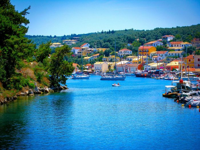 Port Small Port Boats Sailboats Village Houses Greek Islands Paxi Island Summer Views Summer Memories 🌄 Summer Is Coming Shades Of Blue Picturesque Trees Forest Forest And Village Sea Village And Sea Forest And Sea Blue Wave Landscapes