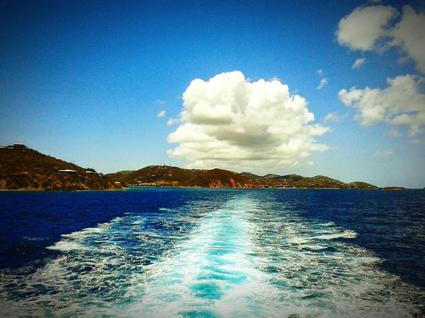 Ferry Ride in USVI Blue Cloud - Sky Nature Water Sky Outdoors Ferryboat Ferry Ride St. Thomas, Virgin Islands St. John USVI Travel Travelphotography Family Legacy Photography Phone Photography Pictures Capture The Moment Photographer EyeEmNewHere Travel Destinations Blissful Moments Nature Photography Nature Collection Tranquility