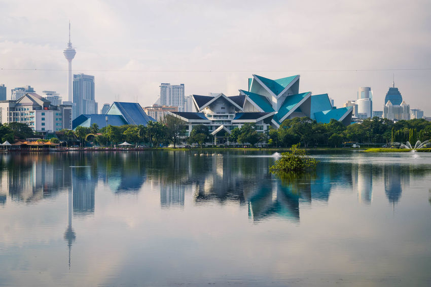 Reflection of KL Tower from Titiwangsa Lake KL TOWER Landscape_Collection Reflection Relaxing Water Reflections Architecture Built Structure Lake Landscape Modern Nature Reflection River Sky Skyscraper Travel Destinations Water Waterfront