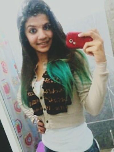 CabeloVerde Cabelomeu Louca Verde Green Saudade ):)