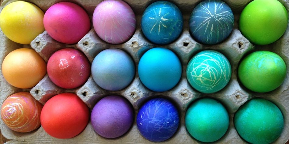 Abundance Close-up Colorful Easter Eggs Full Frame No People Rainbow