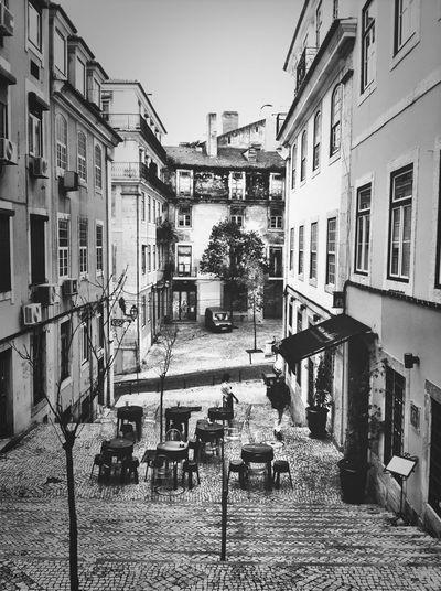 Architecture Stairs Pretoebranco Lisbon_bw