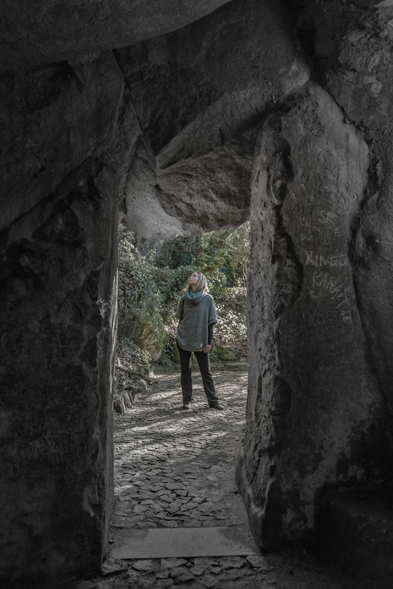 Cave Contemplation Framed Gardens Grotto Nature Outdoors Sintrasecrets Woman