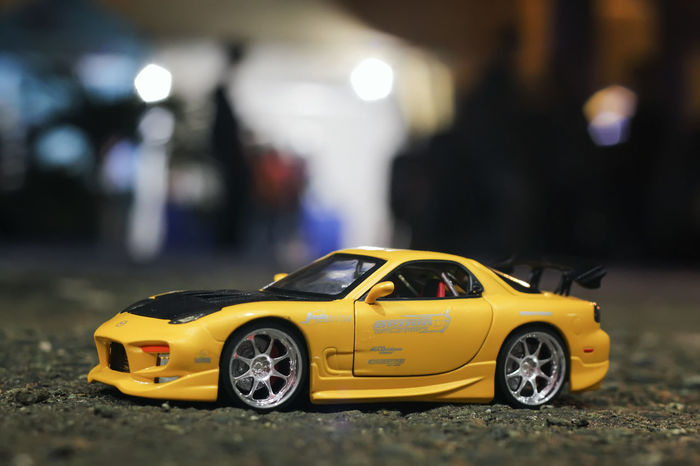 FastAndFurious7 Subaru Car Childhood Day Fastandfurious Land Vehicle Mazda No People Outdoors Toy Toy Car Transportation Yellow