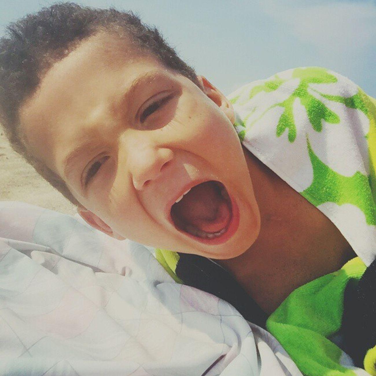 My crazy child 💗 Mycrazychild Boogabear Shane Beachday Asburypark Beach Bigmouth Mommysbaby Crazy CraeCrae