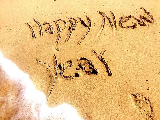 Jumeirah Beach Dubai Imprint New Year Good Wishes Waves EyeEmNewHere Foodsteps See Sand Beach Text Day Outdoors Nature No People EyeEmNewHere EyeEmNewHere