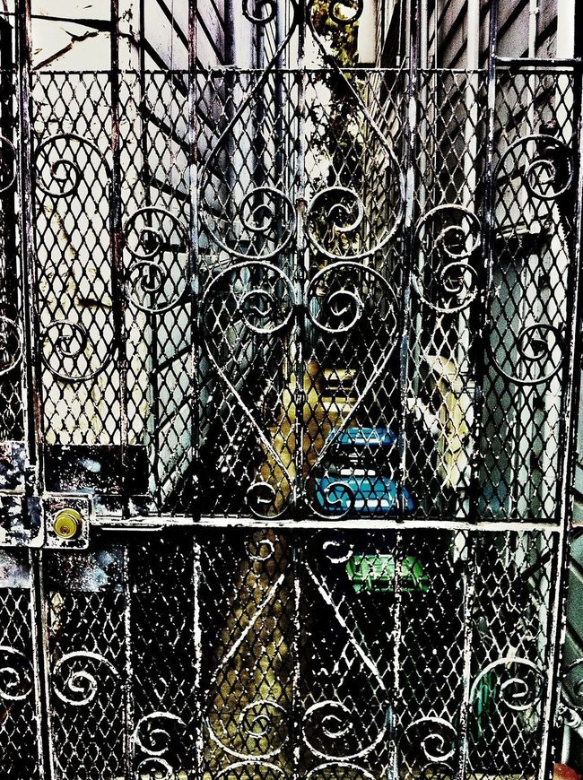 My last picture from the EyeEm San Francisco Meetup July 2013 . Nothing spectacular, just an ordinary Iron Gate ,where Rust Never Sleeps and standing guard, protecting whatever valuables there are behind it. New found friends shed their rusty Grimegate , opened their arms and welcomed each other with warm smiles, engaging conversation and good natured bantering - things that friends do. One moment we were strangers. But once those gates were opened there was an acceptance of who we were without prejudice nor conditions. We all basked in each other's warm and accepting presence. It was a blast and I cannot wait for the next one! Thank you!