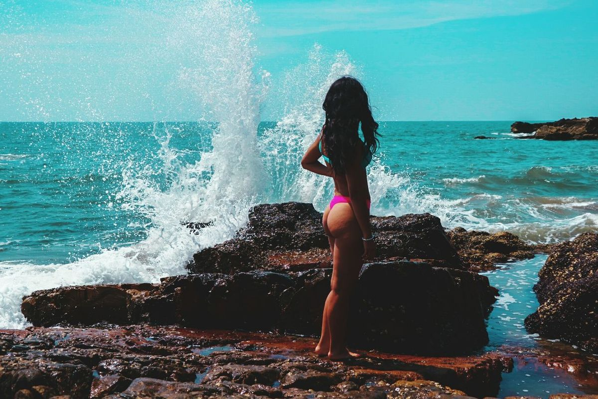 Water Summer One Person People Beauty Full Length Only Women Sea Vacations Sport One Woman Only Adults Only Adult Outdoors Day Human Body Part Nature Sky Ironeyephotography Waves, Ocean, Nature Travel Destinations Goa