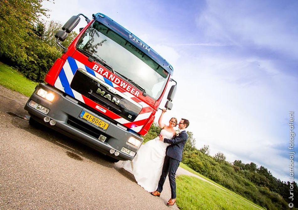 Bruiloft Bruiloftfotografie Brandweer