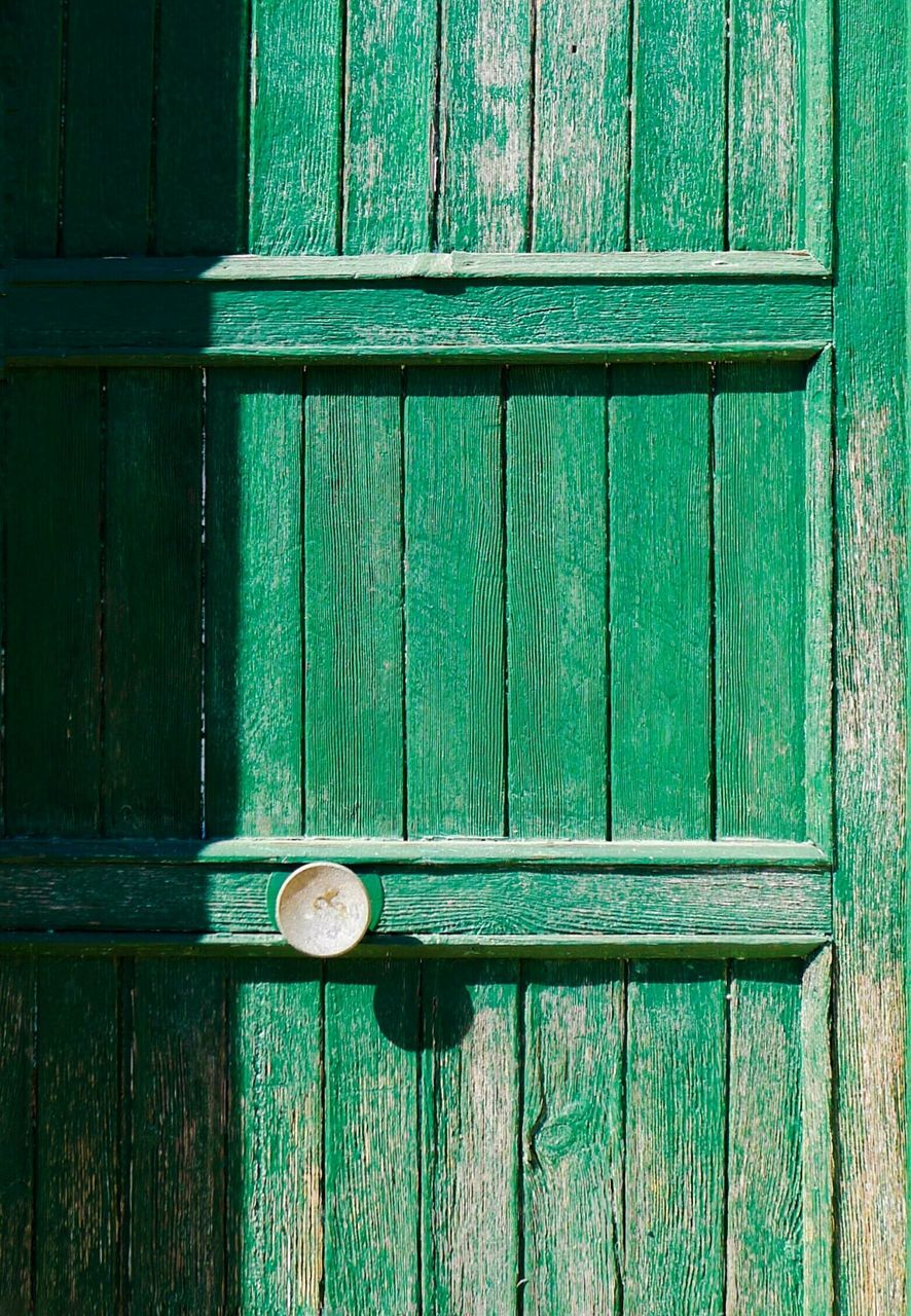 wood - material, door, protection, no people, day, outdoors, green color, close-up, built structure
