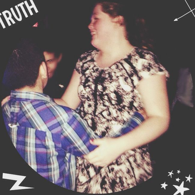 This is me dancing with a secret dude none of y'all will ever know Dance Friends No More Than Friends