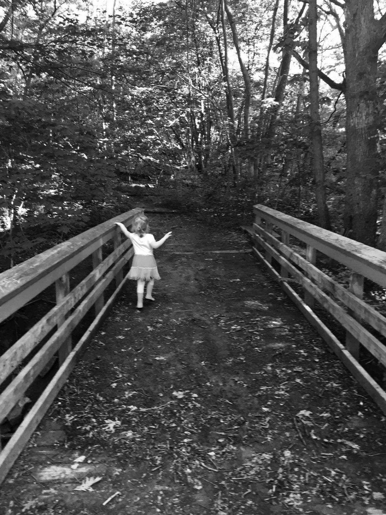 Bridge Toddlerlife Gwinning Gwennie Goose MapleWoods Creek Outside Water Blackandwhite