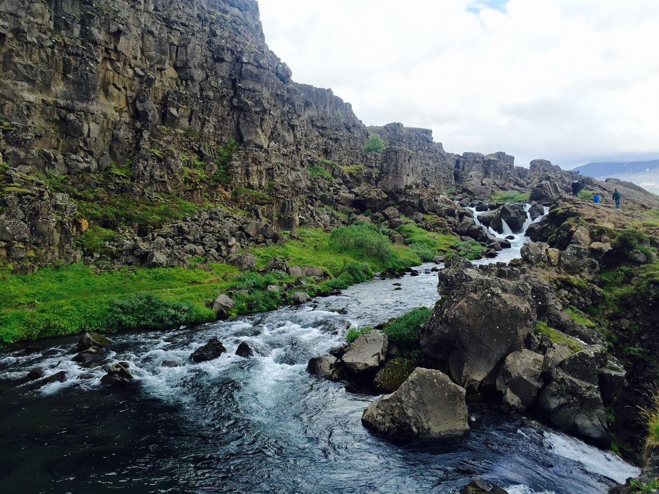 Beautiful stock photos of iceland, Horizontal Image, beauty in nature, cliff, cloud - sky