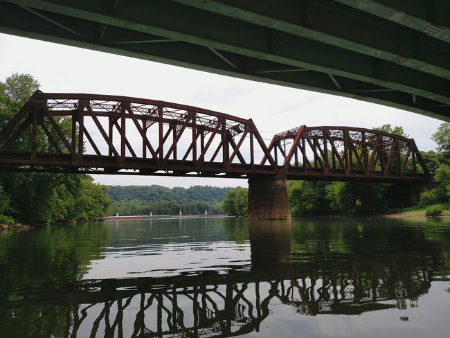 Femalephotographerofthemonth Ladyphotographerofthemonth Iron Bridge Bridgescape Bridges And Reflections Old Bridge Reflections In The Water Reflection Obsession Reflection_collection Reflection Photography Rusty Goodness Bridges I've Seen Old Bridge Club Bridge Porn Bridge Over Water Bridge Photography Lines And Shapes Lines And Angles Lines Everywhere Ohio River Architecture Perspective Architectural Photography Abstract Abstract Photography