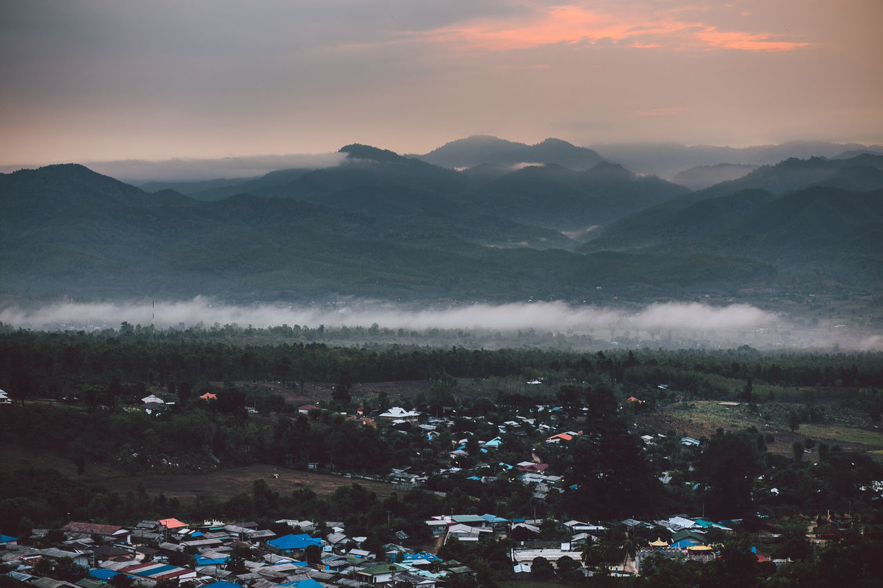 Beauty In Nature Dawn Day Fog Foggy Morning Landscape Morning Mountain Mountain Range Nature Newday No People Outdoors Scenics Sky Thailand Travel Destinations Tree