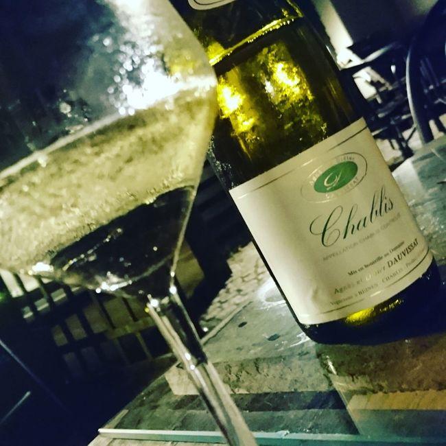 Late night drink Chablis  Summer Eve Enjoying Life