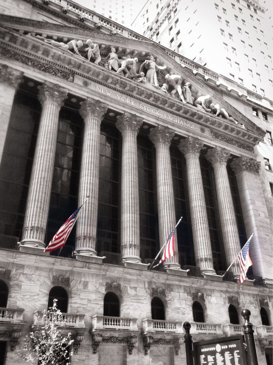 Beautiful stock photos of stock exchange, American Flag, Architectural Column, Architecture, Building Exterior