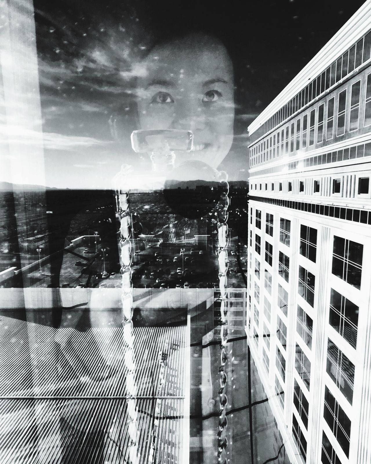 Place Of Heart Glass Reflection Glass Windows With Reflections Glass Windows Sky And Clouds Blackandwhite Photography Reflected Selfportrait Reflection Reflected In Glass